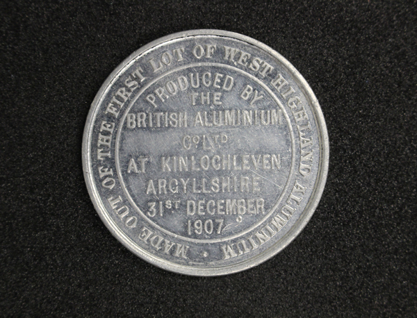 'Aluminium Manufactured at Kinlochleven' Medal, GLAHM: 37786 (rev)