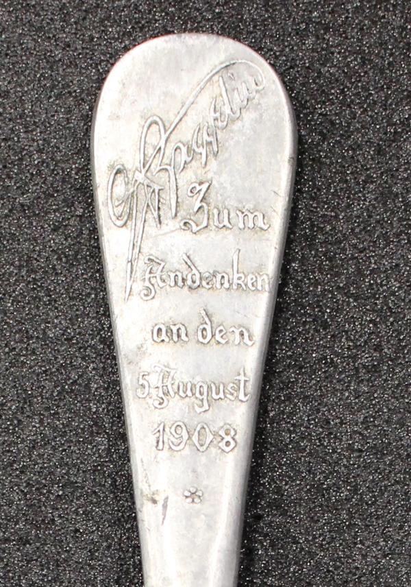 Zeppelin Spoon, GLAHM: 37715 (obv, detail)